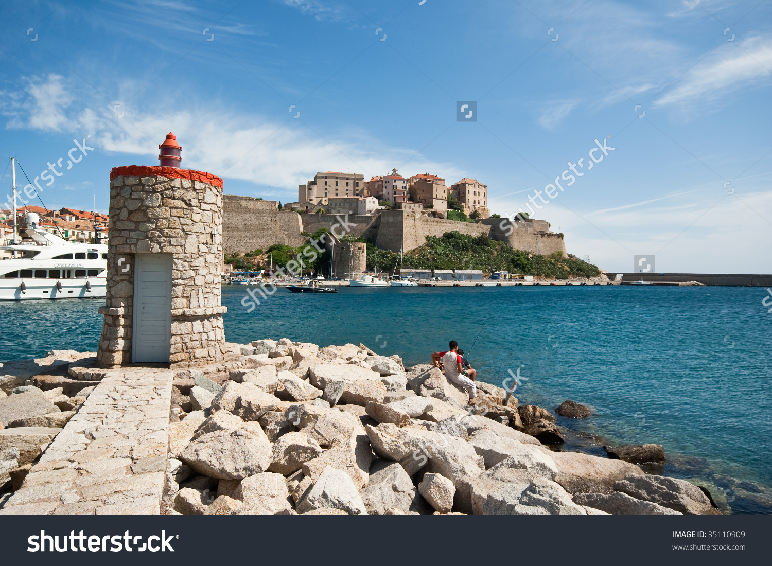 The Calvi Castle In Corsica Stock Photo 35110909 : Shutterstock.