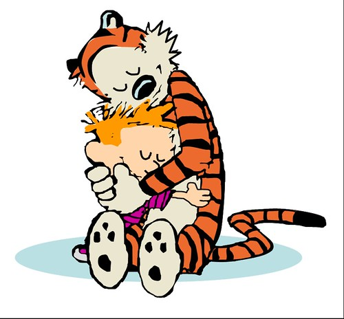calvin and hobbes as clipart.