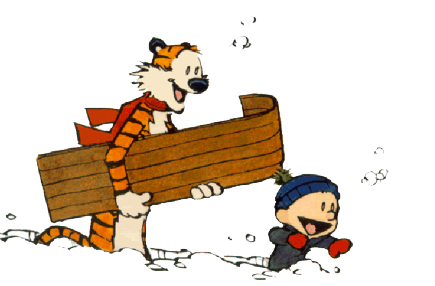 Download Calvin And Hobbes Transparent HQ PNG Image.