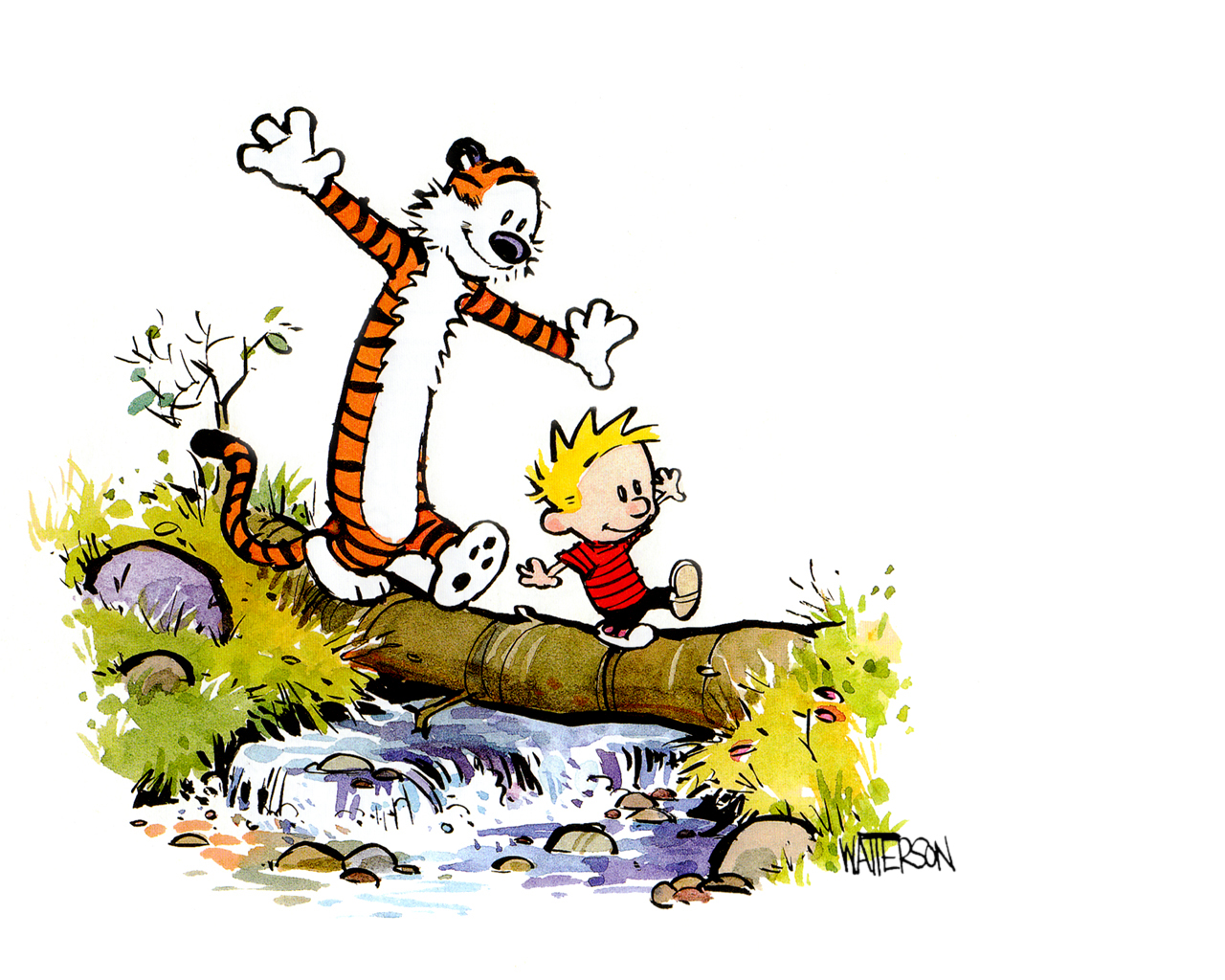 Image of Calvin And Hobbes Clipart #5754, Calvin And Hobbes.