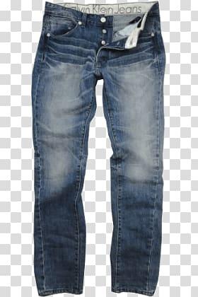 Black Calvin Klein Jeans whiskered jeans, Calvin Klein Jeans.