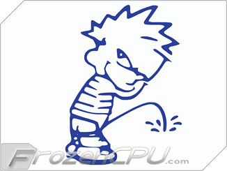FrozenCPU Calvin Peeing UV Reactive Applique.