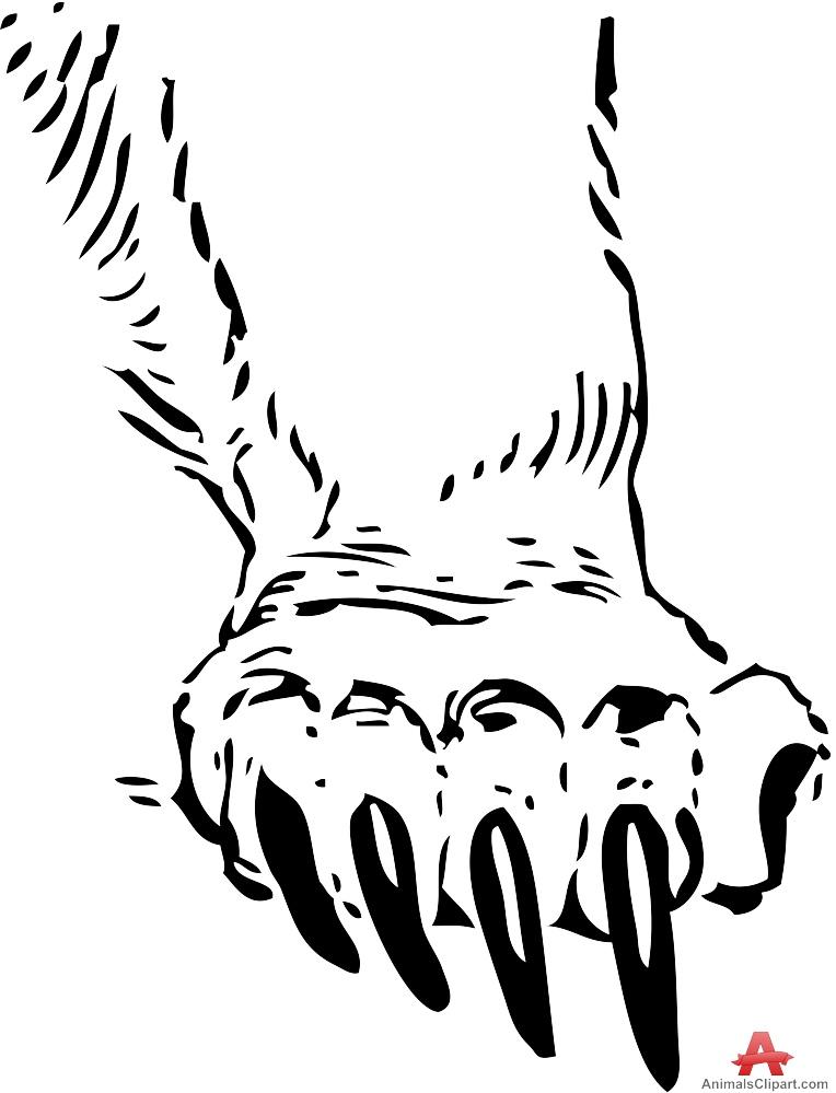 Bear claw clip art.
