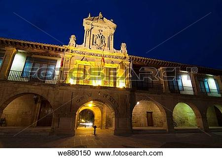 Stock Photography of Town Hall in Plaza de Espa±a, Santo Domingo.