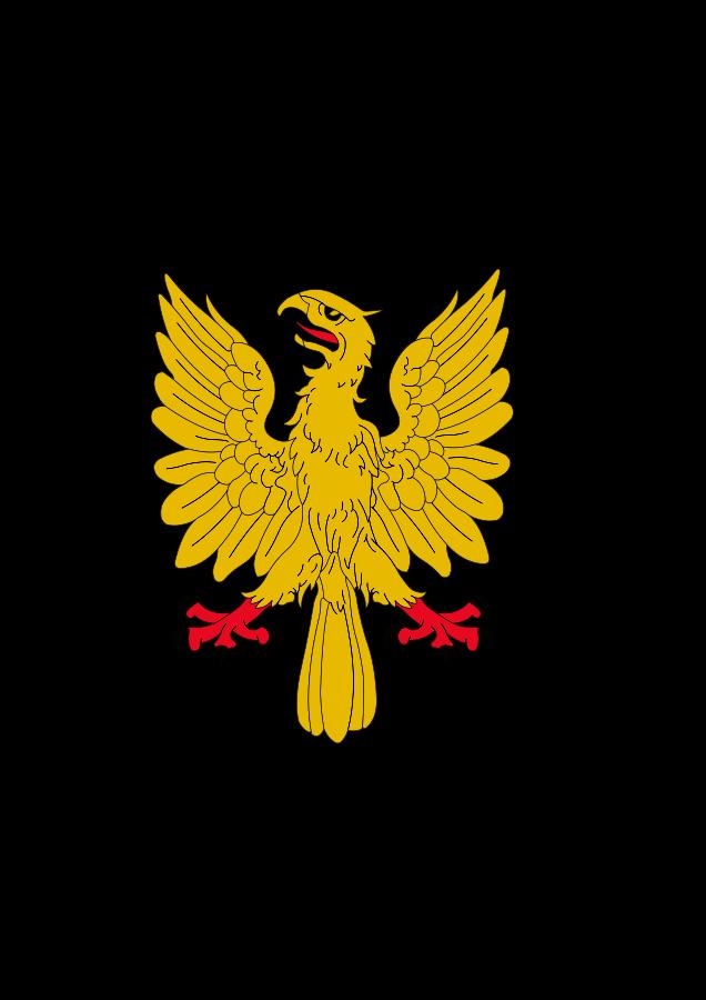 Aguila Explayada Oro Calzada Y Linguada Gules SVG Vector file.