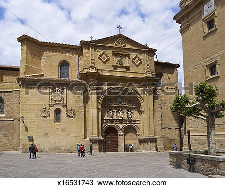 Stock Photo of Plaza del Santo, Sto Domingo de la Calzada.