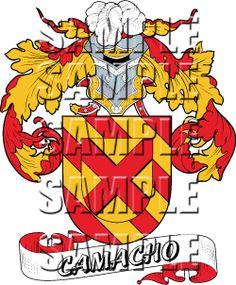 Camacho Family Crest / Camacho Coat of Arms.