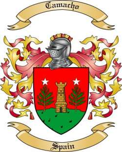 Camacho Family Crest from Spain2 by The Tree Maker.