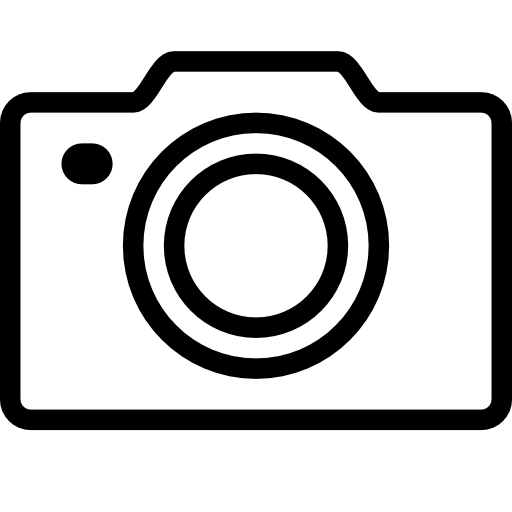 Camera Icon Simple transparent PNG.
