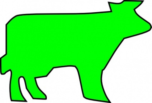 Bulls and cowboy Of Camargue clip art.
