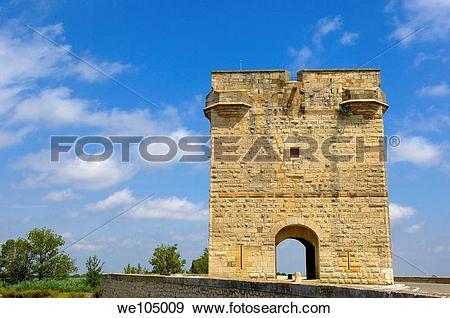 Stock Photograph of Tour Carbonniere, Aigues.