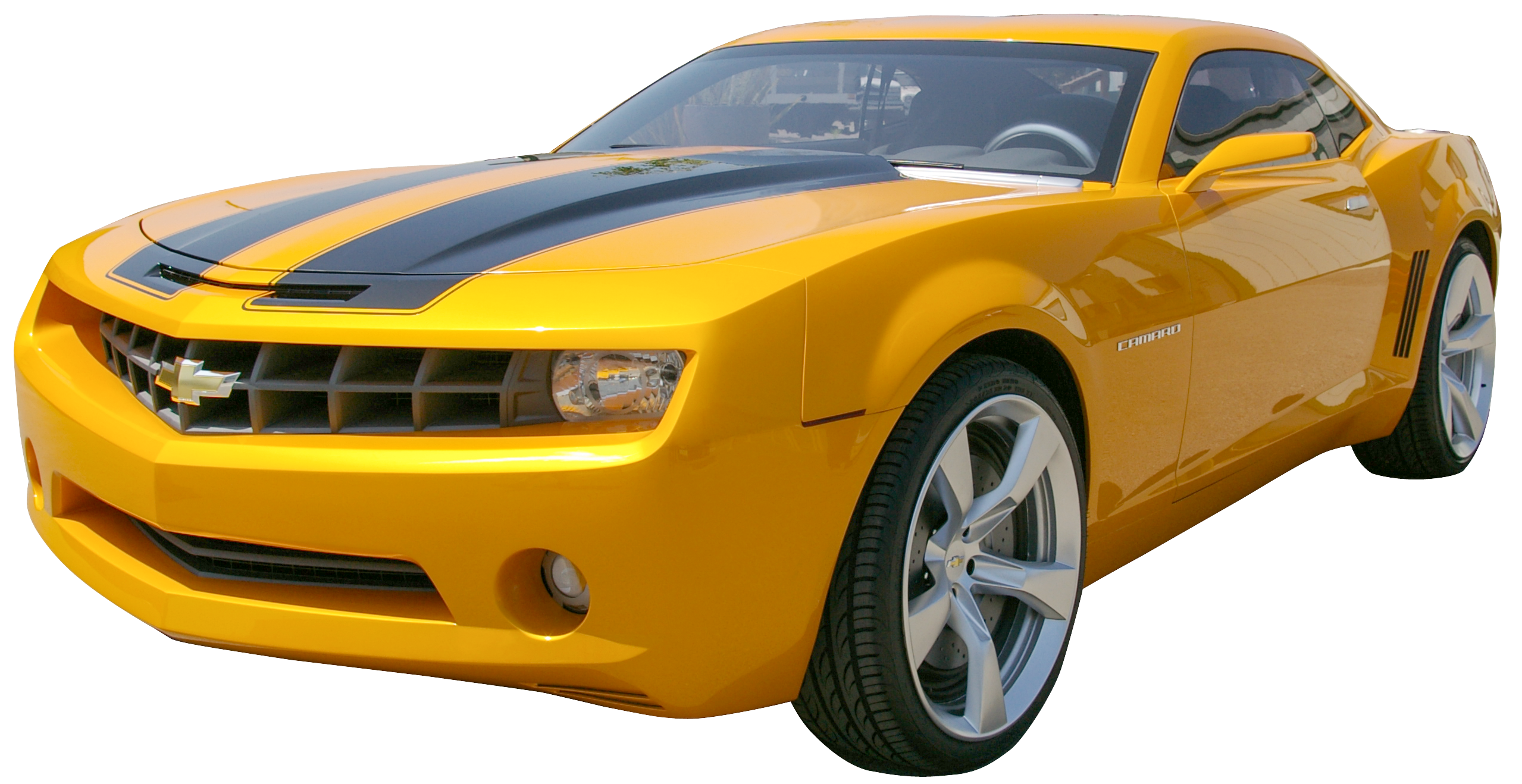 Yellow Camaro PNG Clip Art.