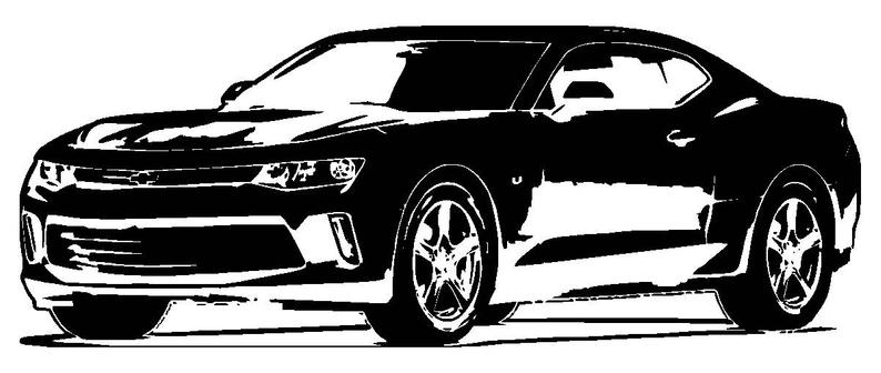 Chevy SVG File 2018 Chevrolet Camaro ZL1 Clipart Vector Signage.