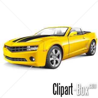 CLIPART YELLOW CHEVROLET CAMARO CAB.