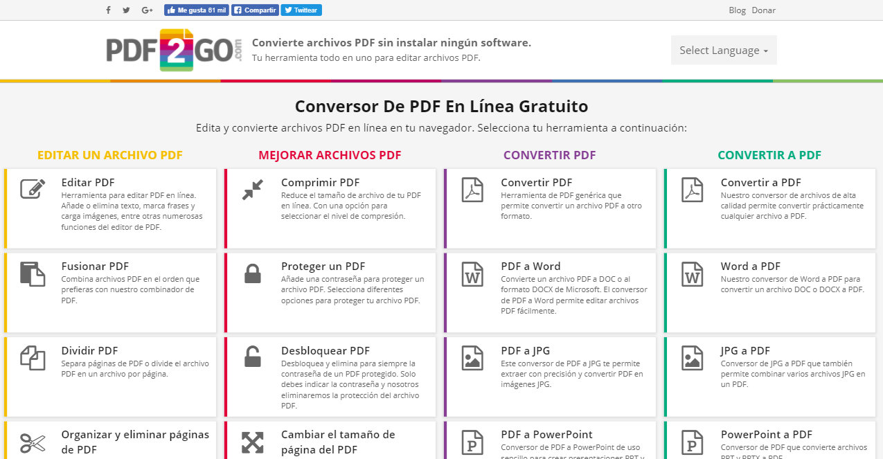 Convertir PDF a JPG.