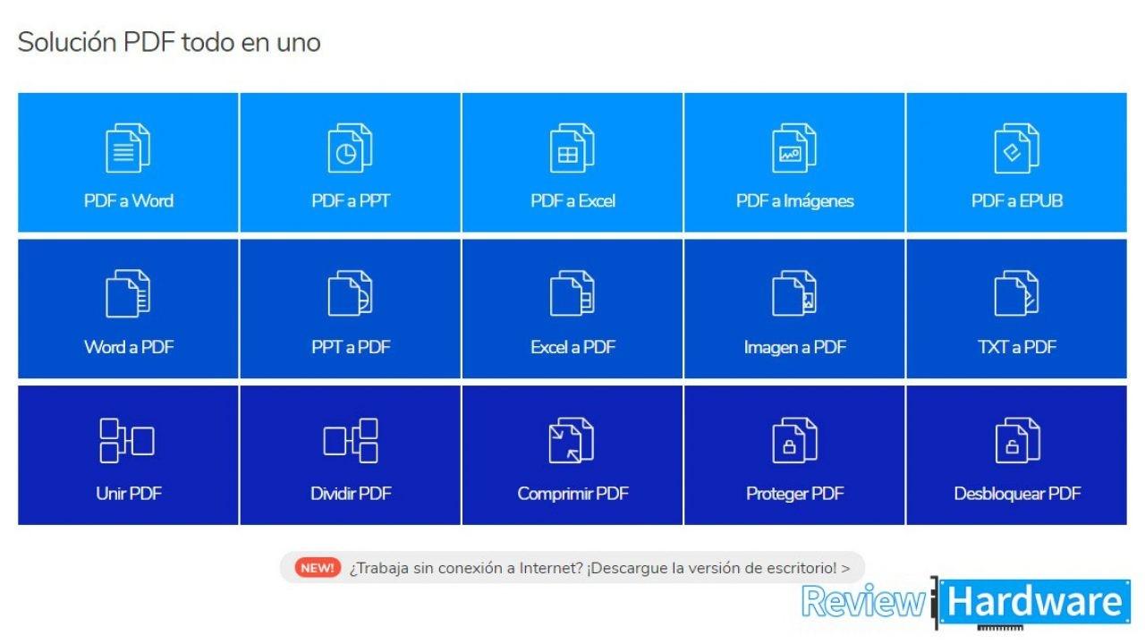 Como convertir un archivo PDF a Word, Excel, PPT o ePub sin.