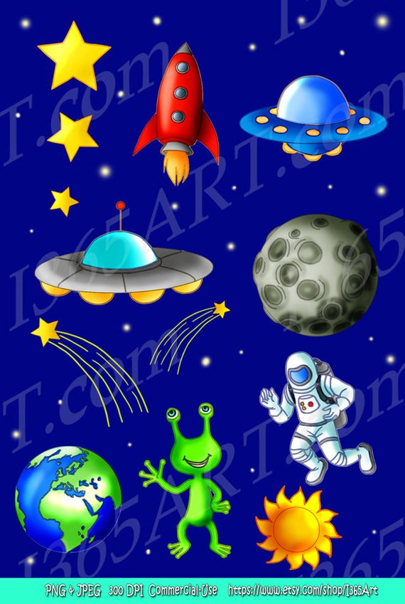 Space Clipart, Space clip art, Science, Scrapbooking.