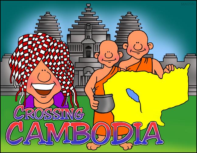 Free Asia Clip Art by Phillip Martin, Cambodia Map.