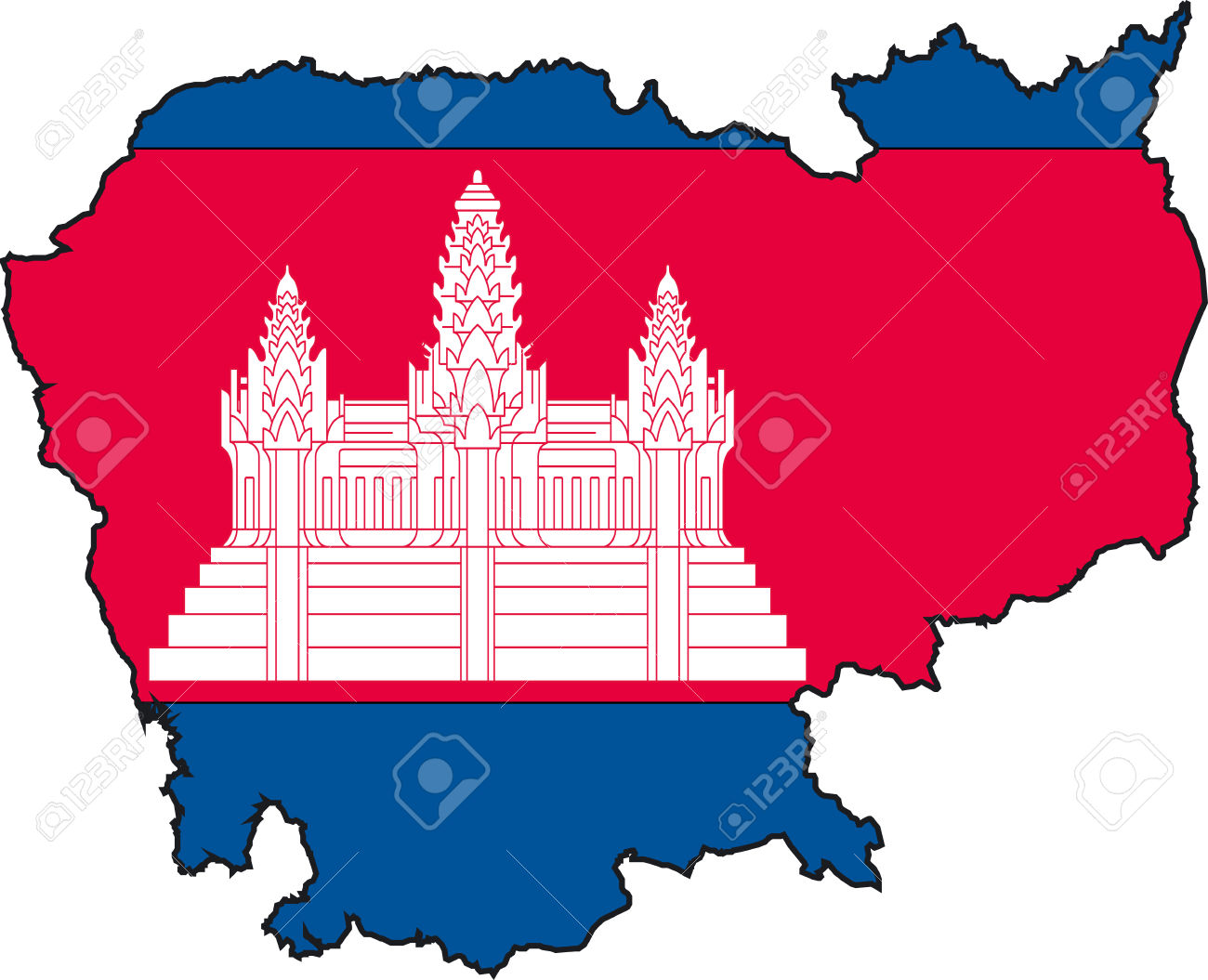 clipart map of cambodia - photo #7