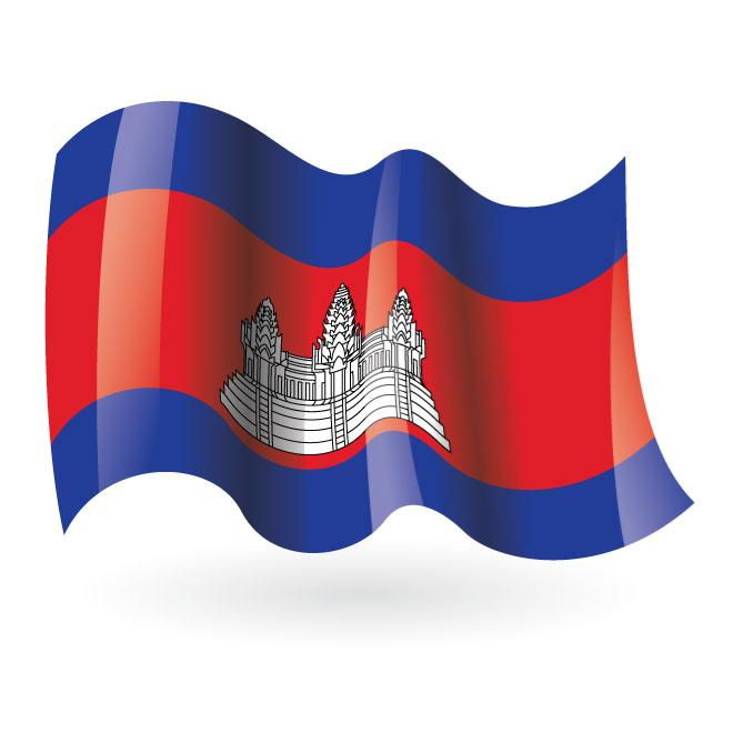 Cambodian flag vector clip art.