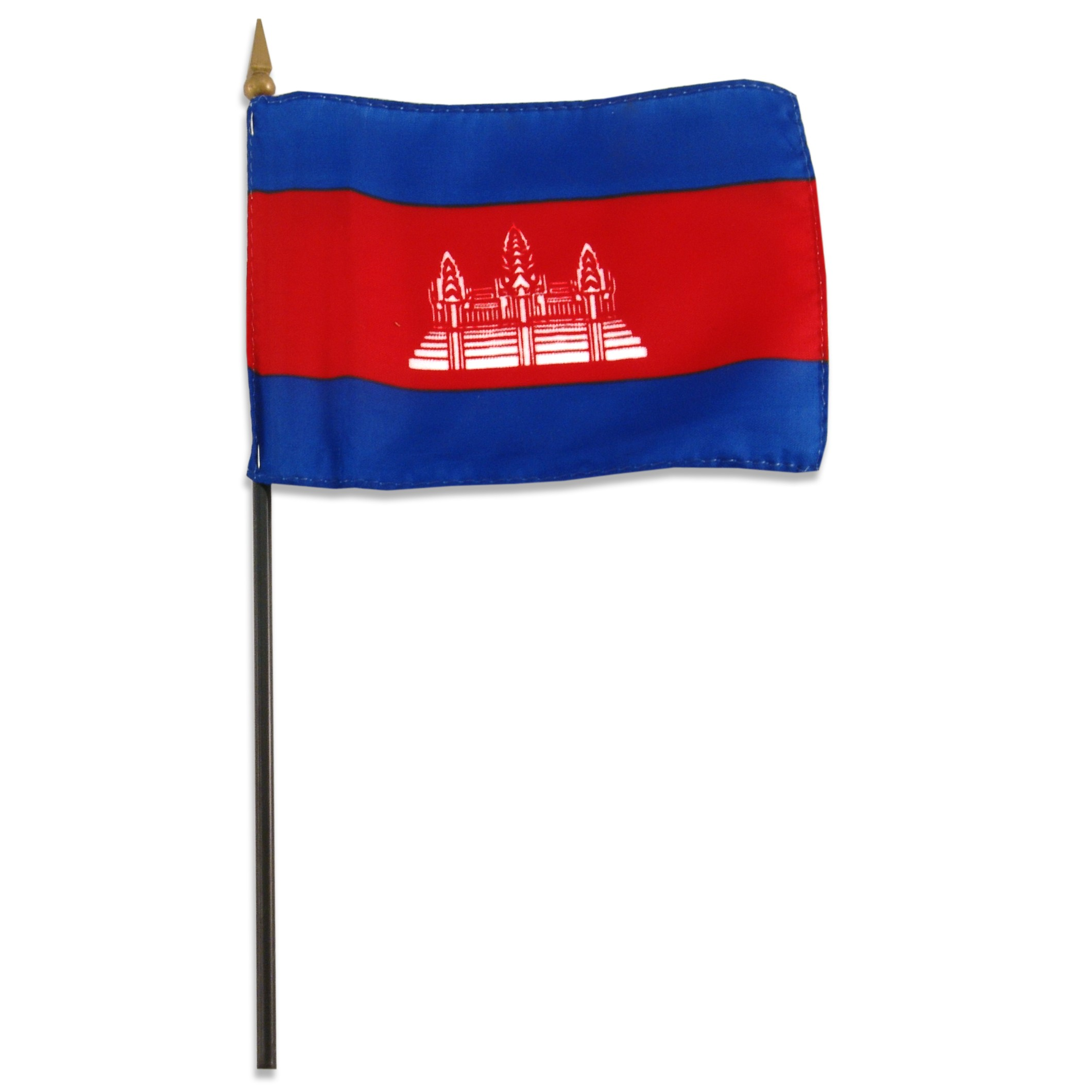 Cambodia flag 4 x 6 inch.