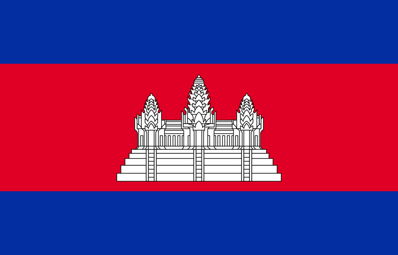 Flag of Cambodia image and meaning Cambodian flag.