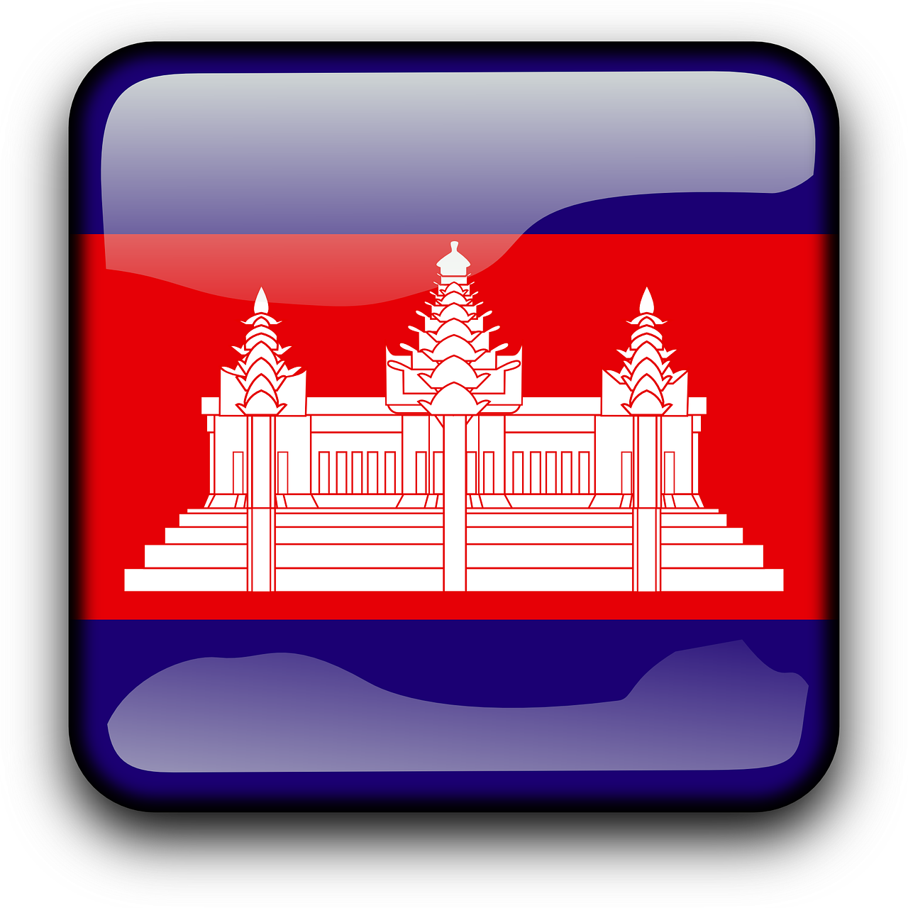 Cambodia Flag Country PNG.