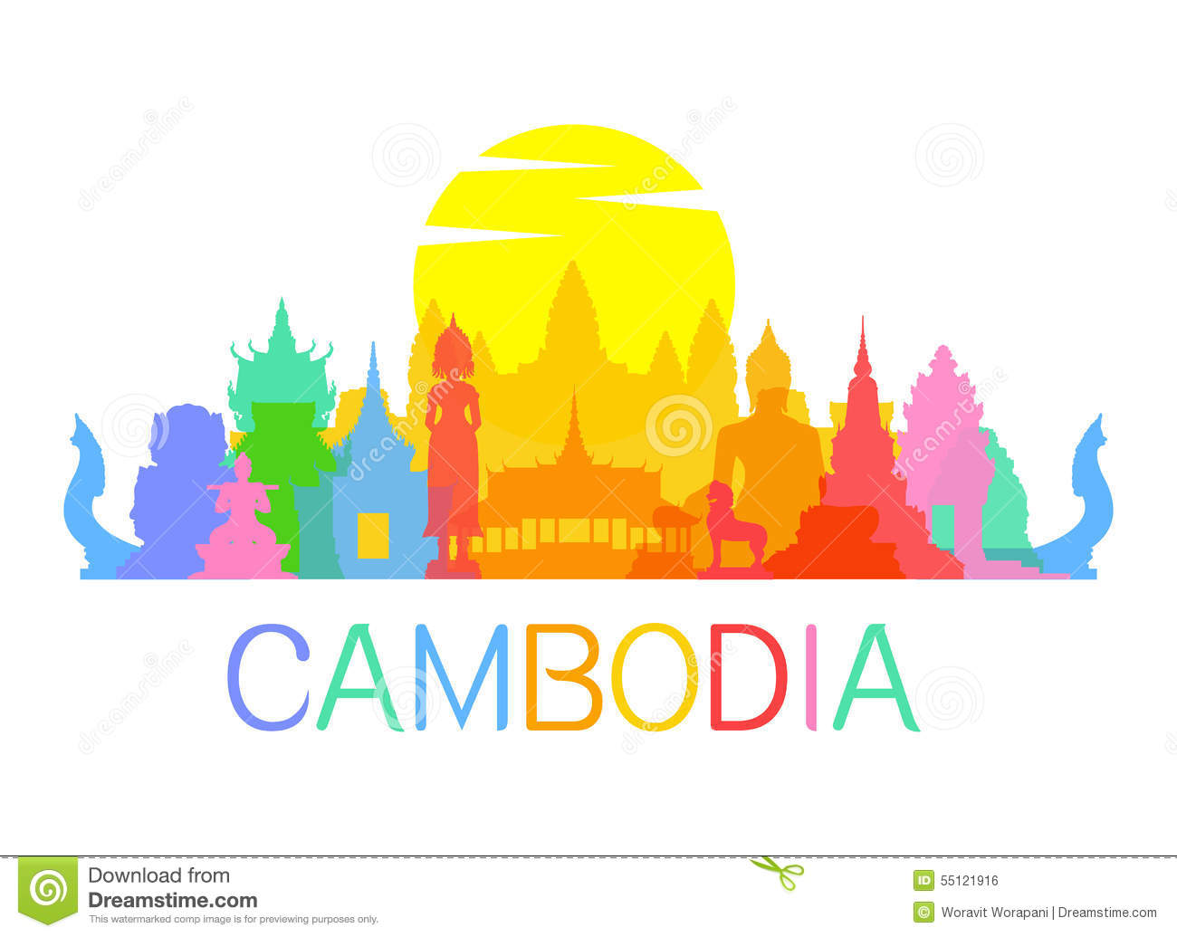 Khmer Stock Illustrations.