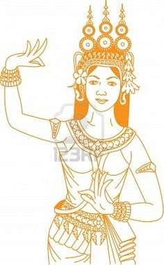 Cambodian new year clipart.