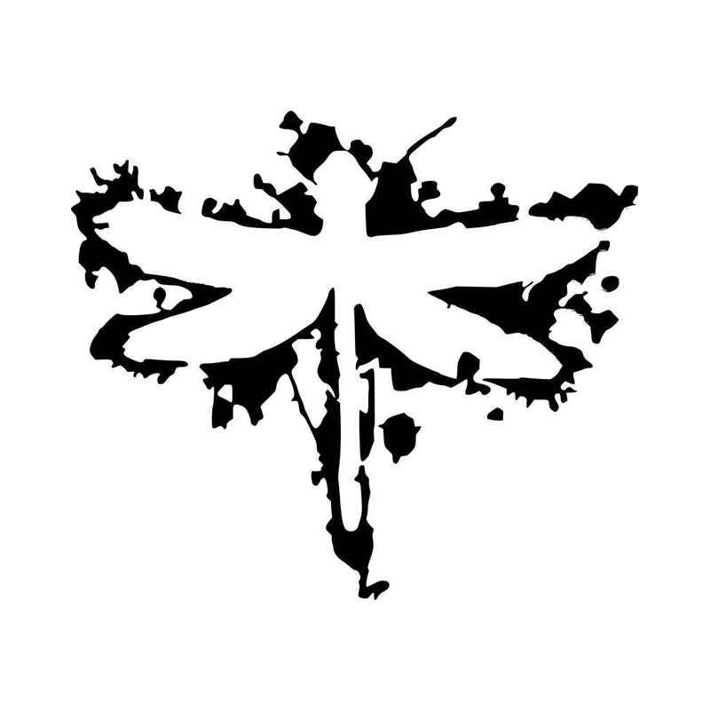Coheed And Cambria Dragonfly Logo Vinyl Decal Sticker.