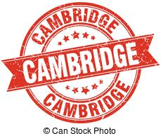 Vector Clipart of Cambridge stamp rubber grunge.