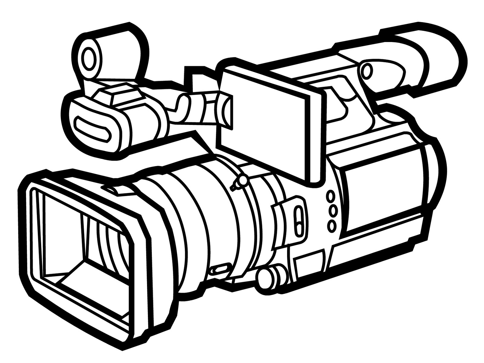 Professional video camera clipart.