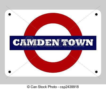 Camden town tube sign Clip Art and Stock Illustrations. 1 Camden.