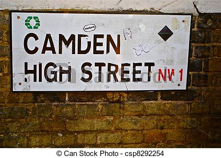 Stock Photo of Camden High Street road sign. csp8292254.