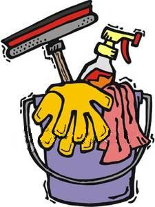 House cleaning supplies clipart.