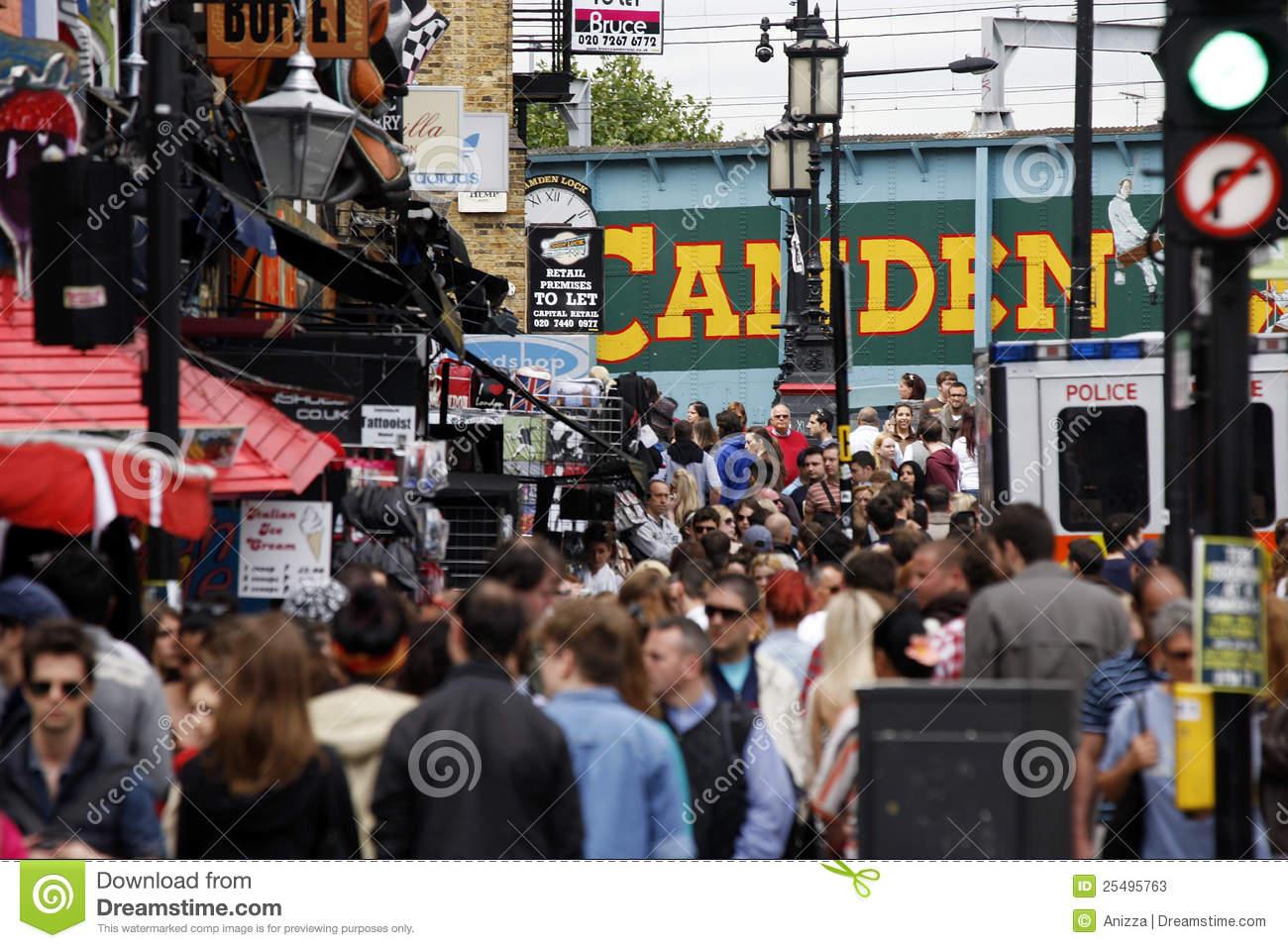 Camden Town, Market, London Editorial Stock Photo.