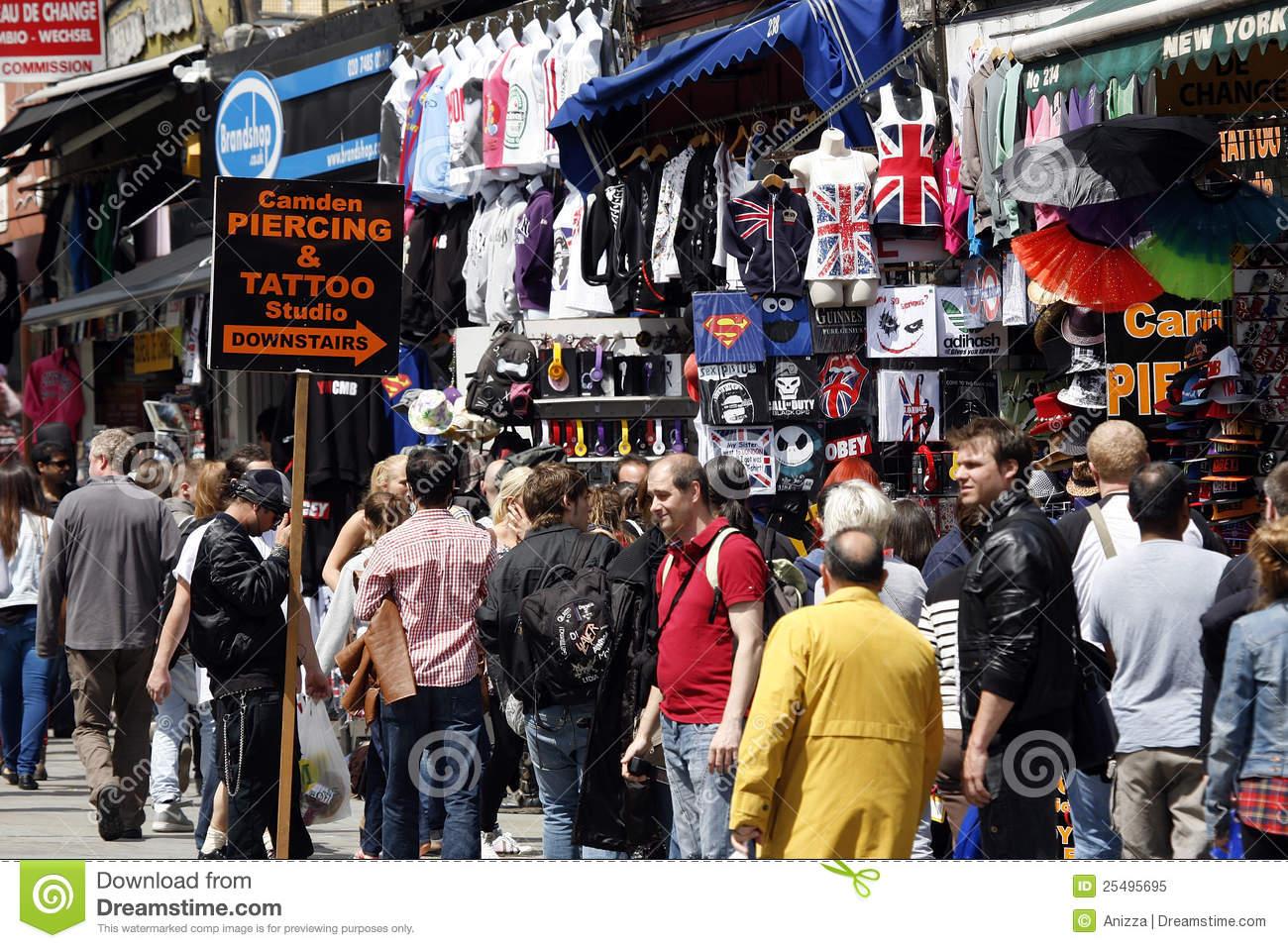 Camden Town, Market, London Editorial Image.
