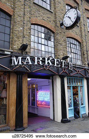 Stock Image of England, London, Camden Town, The Market Hall.