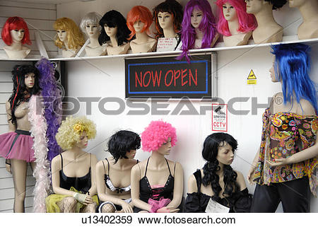 Stock Photograph of England, London, Camden Town. Mannequins and.