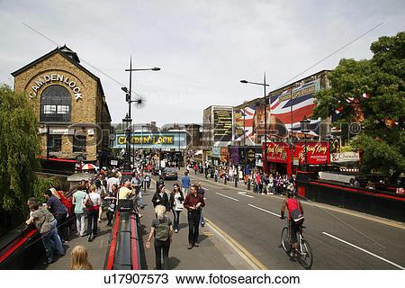 Stock Photo of England, London, Camden Town. Camden Market on.