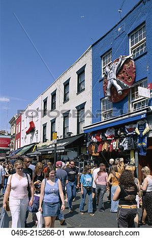 Stock Photography of England, Camden Town, Camden High Street 0495.
