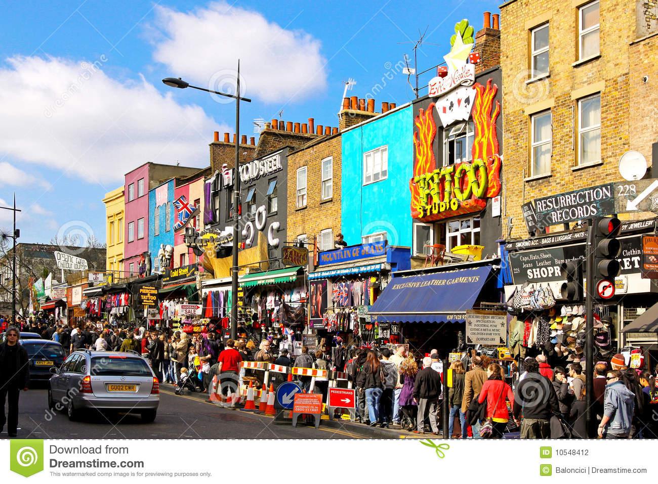 Camden Town Shops Editorial Photography.