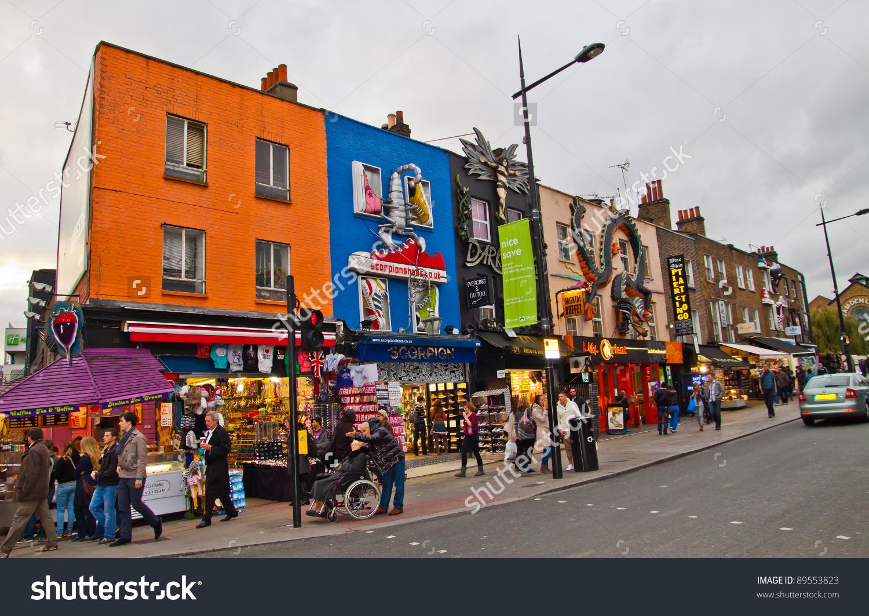 London Nov 5 Camden Town Market Stock Photo 89553823.