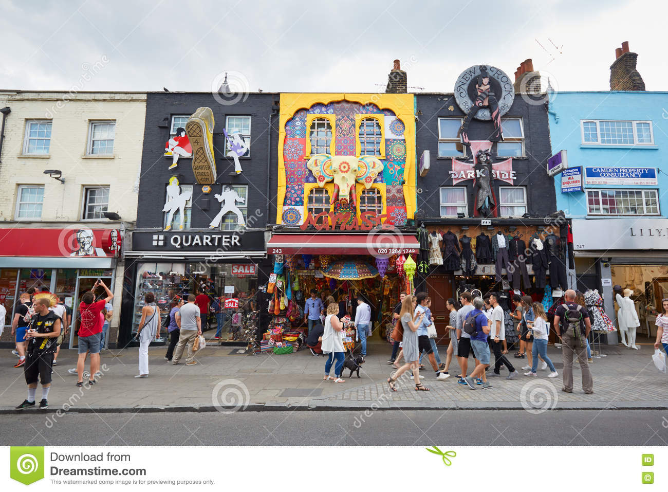 Shops Camden Town London Stock Photos, Images, & Pictures.