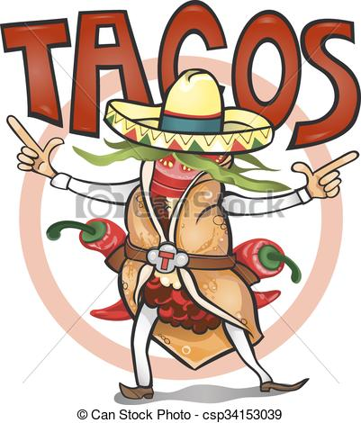 Vectors of Came to eat time tasty tacos.vector illustration.
