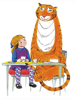 Tiger who came to tea clipart.