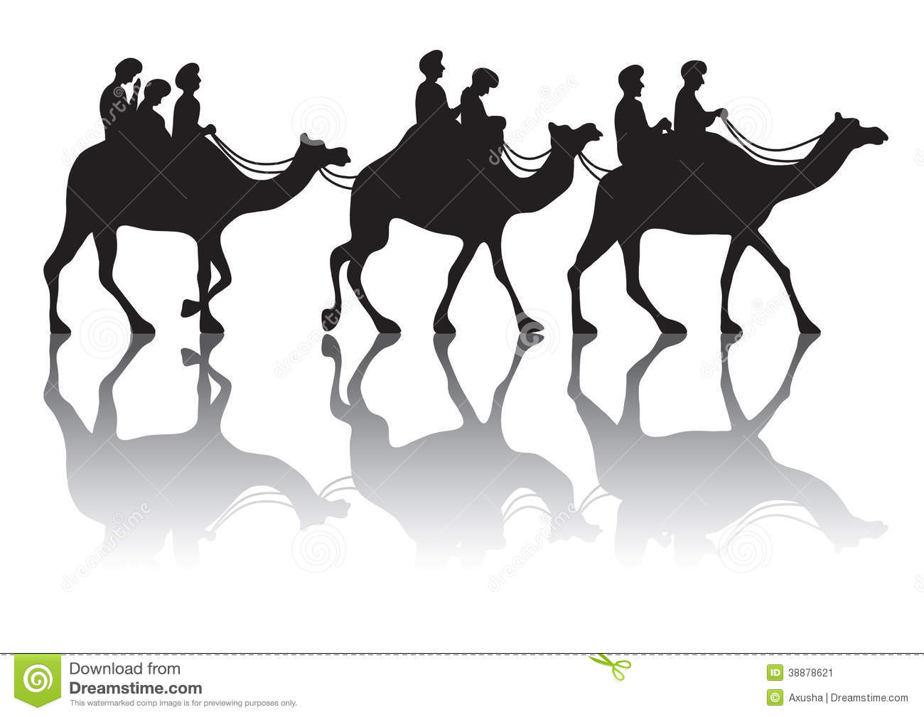 Camel s caravan stock vector. Illustration of caravan.