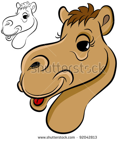 Camel Face Stock Images, Royalty.