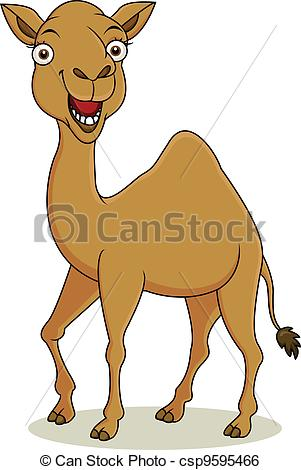 Vector Illustration of funny camel cartoon.