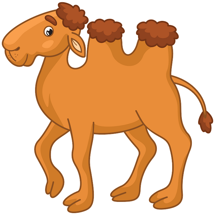 Bactrian camel clipart. Free download..